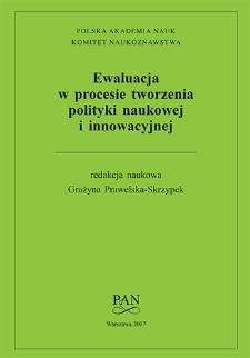 Ewaluacja w procesie tworzenia i realizacji polityki naukowej i innowacyjnej