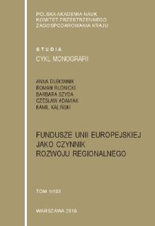 Fundusze Unii Europejskiej jako czynnik rozwoju regionalnego
