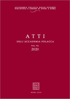 Atti dell'Accademia Polacca, vol. 7, 2020