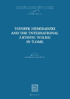 Henryk Siemiradzki and the International Artistic Milieu
