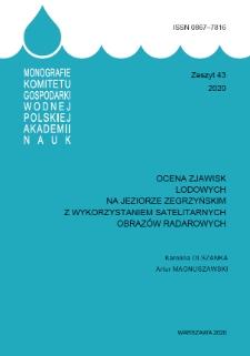 Ocena zjawisk lodowych na Jeziorze Zegrzyńskim z wykorzystaniem satelitarnych obrazów radarowych